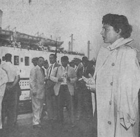 Andrea Doria-Stockholm Arrives