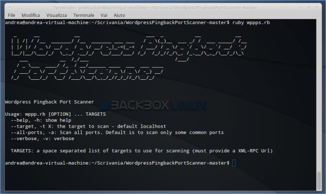 Wordpress Pingback Port Scanner