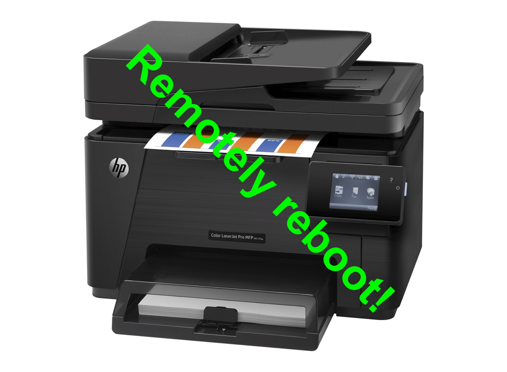 [English Version] Remotely reboot of HP and other printers!