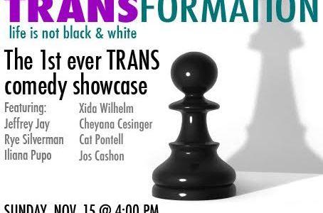 Transgender comedy showcase 15 November at The Improv Hollywood