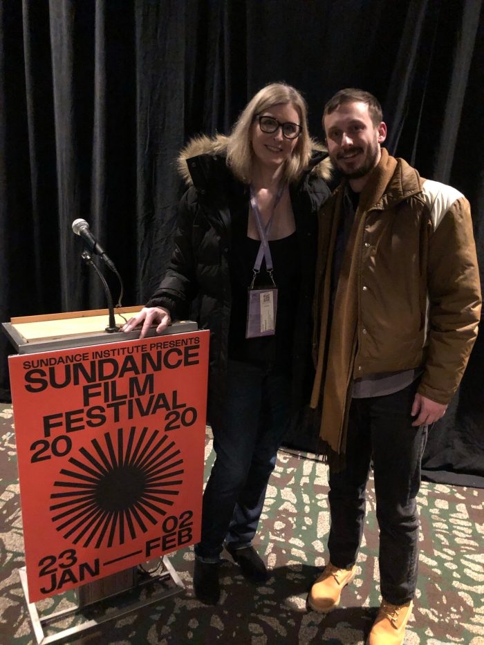 andrea james and matt yoka screening whirlybird at sundance 2020