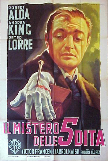 "Photo of rare Italian 3-sheet for ""The Beast With Five Fingers."""