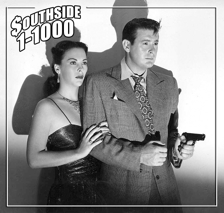 "Photo of Andrea King and Don DeFore in ""Southside 1-1000."" Allied Artists Pictures, 1950."