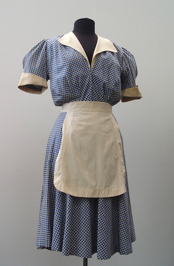 """Image of waitress costume from """"Mildred Pierce"""" (1945) and """"The Man I Love"""" (1947)."""