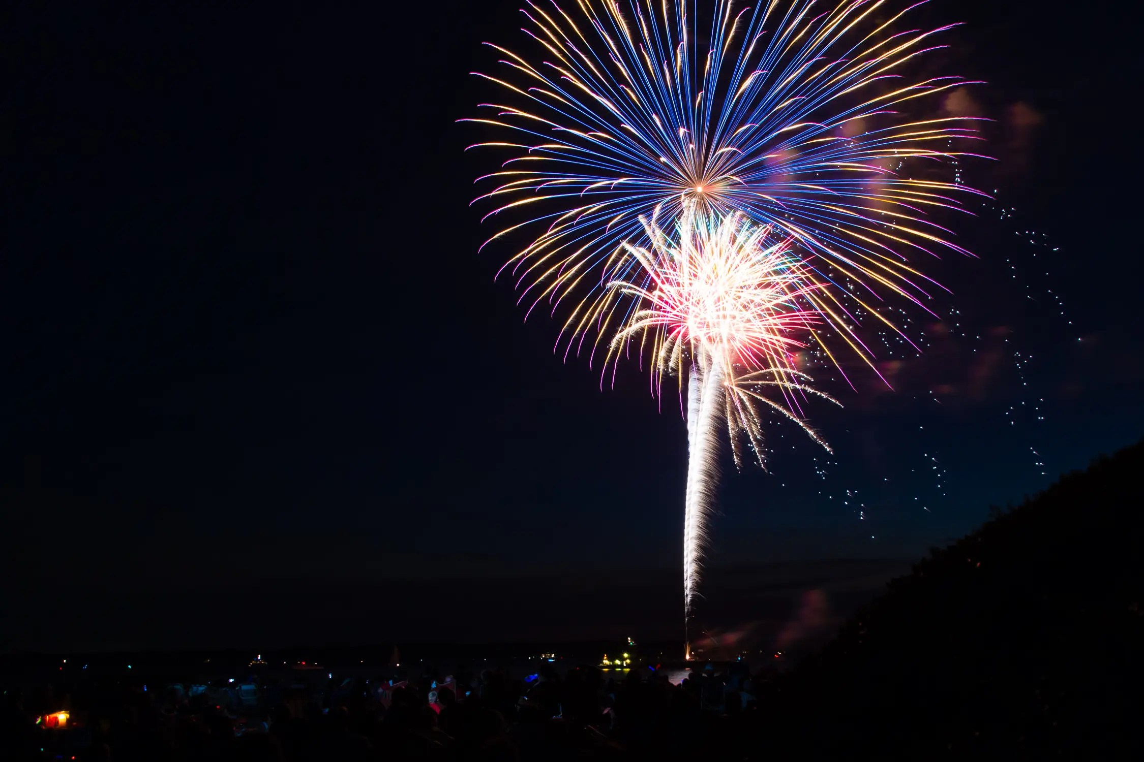 Slow your shutter down to create beautiful fireworks shots.