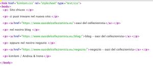 HTML esempio