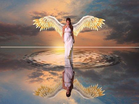 Engel auf dem Wasser