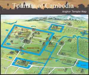 Angkor Temple Map