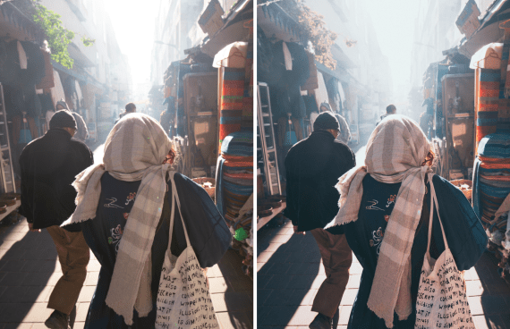 salty morocco Lightroom preset example market_2