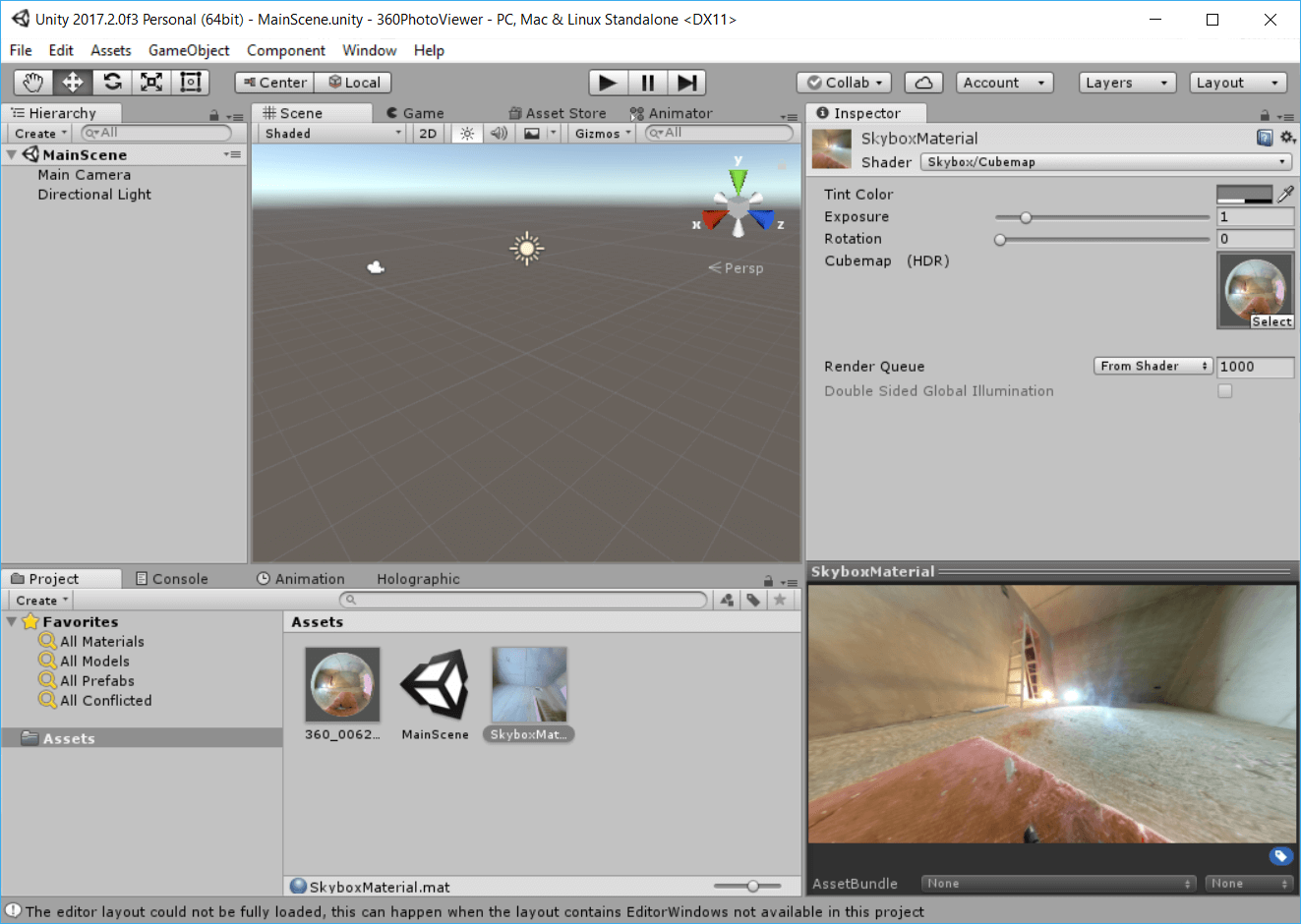 Skybox unity android