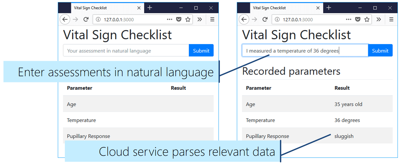 The final vital sign checklist app with natural language understanding