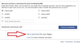 Custom Facebook URL