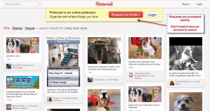 Request a Pinterest Invite