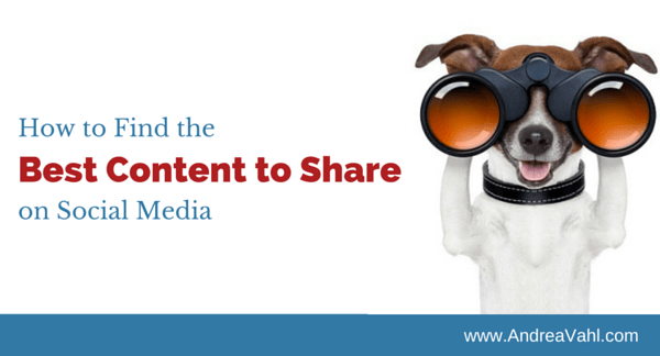 Find Content to Share on Social Media