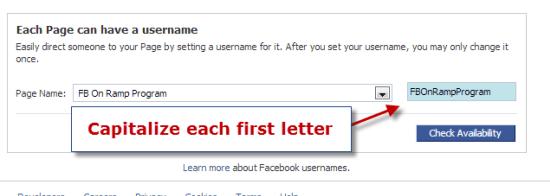 Facebook Page URL