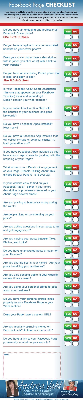 Andrea Vahl's Facebook Checklist