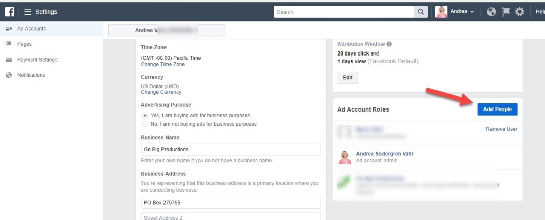 Add People to Facebook Ads Account