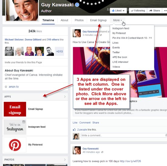 Facebook Apps in new Timeline