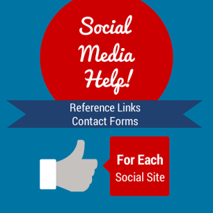 Social Media Help and Reference Links