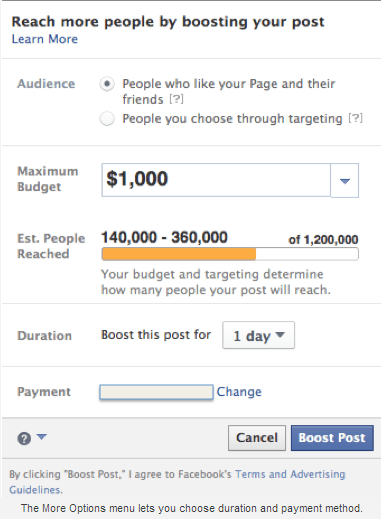 Facebook Ad payment
