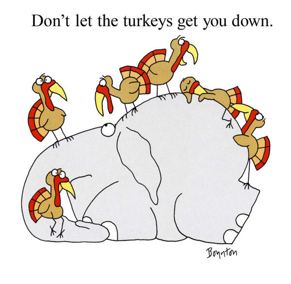 Grandma Mary Says Don't Let the Turkeys Get You Down