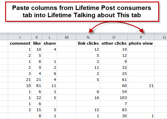 Add Insights columns