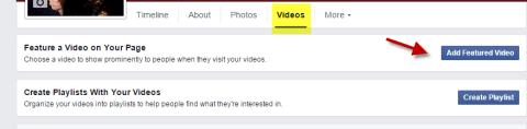 Add a Featured Video