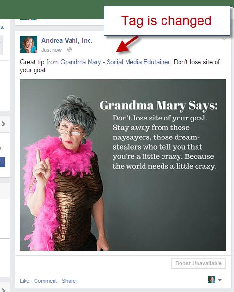 Correct Facebook Tag