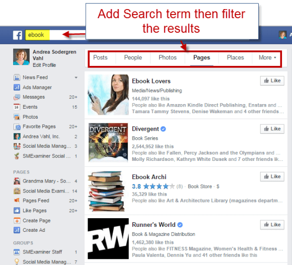 Filter Graph Search results