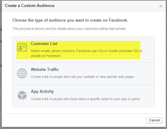 Facebook Custom Audiience popup