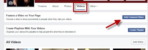 Add a Facebook Featured Video