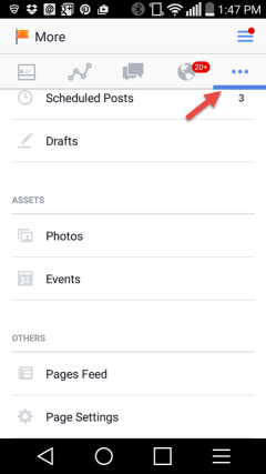 Facebook Pages app access