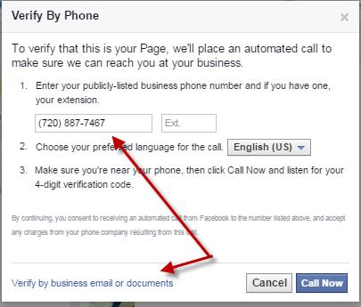 Verify business page claim
