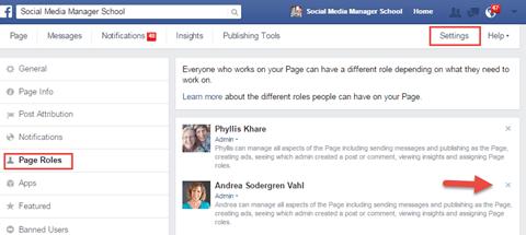 Review Facebook Admins