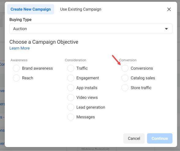 Create a Facebook Conversion Ad