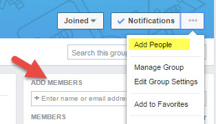 Add people to Facebook Group