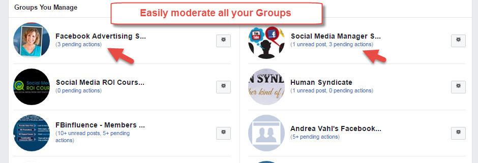 Moderate Facebook Groups