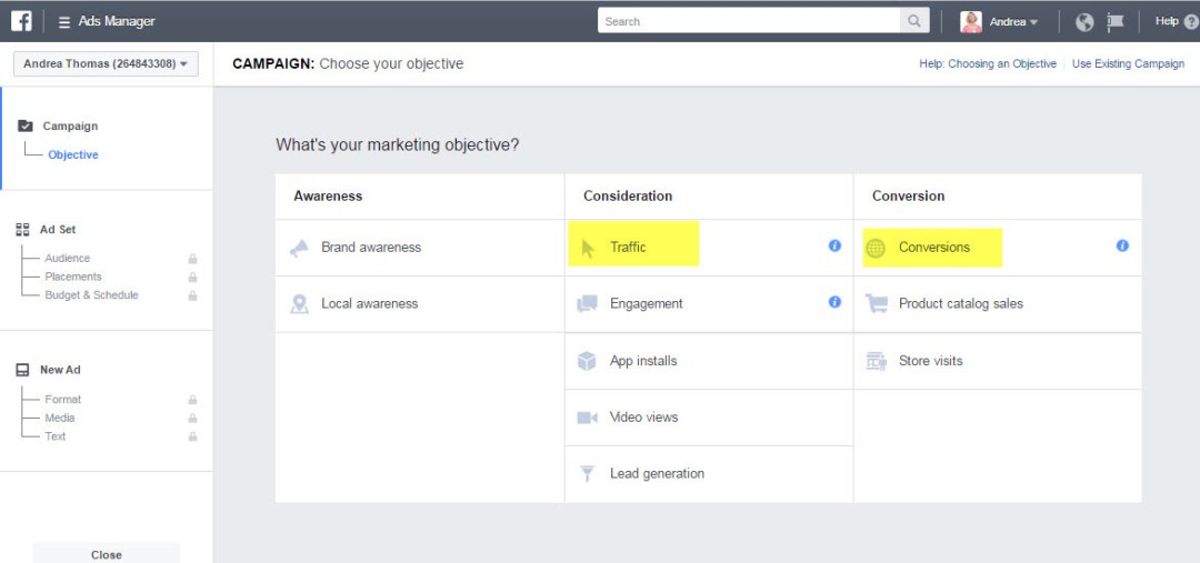 Facebook Ads traffic and conversion