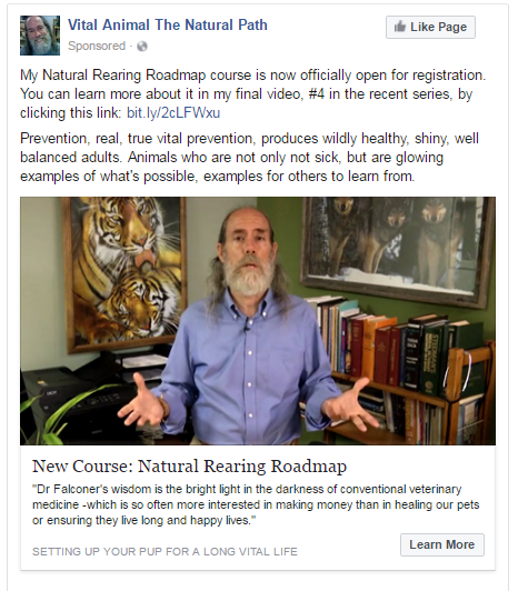 Natural Rearing Roadmap course ad with Dr Falconer