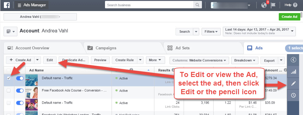 How to Edit a Facebook Ad