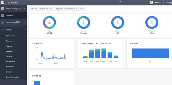 Demographics of website visitors Facebook Analytics
