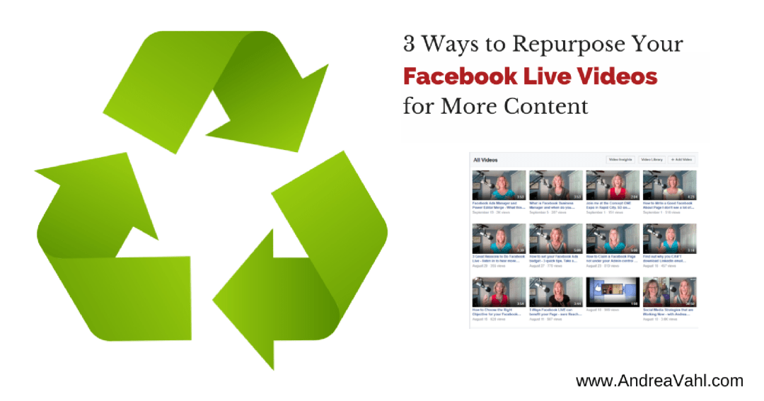 Repurpose Facebook Live Videos