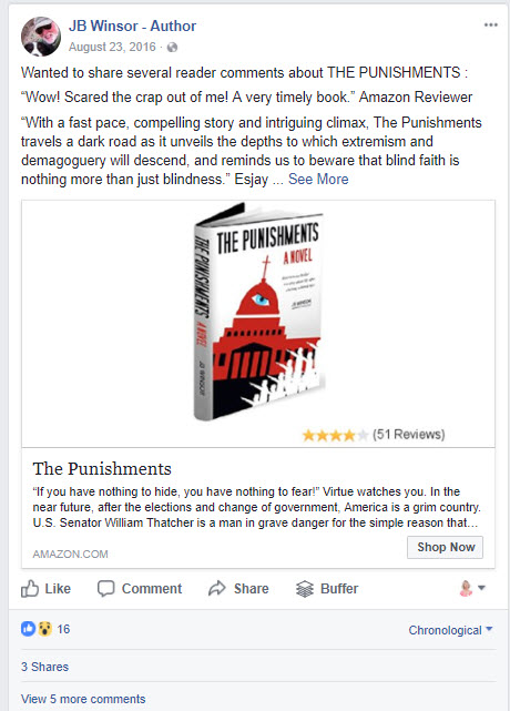 Facebook Ad image for author