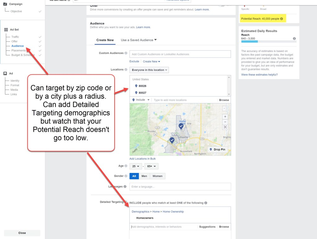 Facebook Ads for local audiences