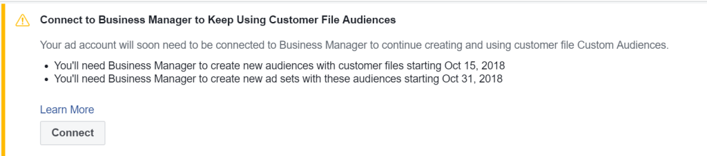 Connect your Facebook Account to Business Manager