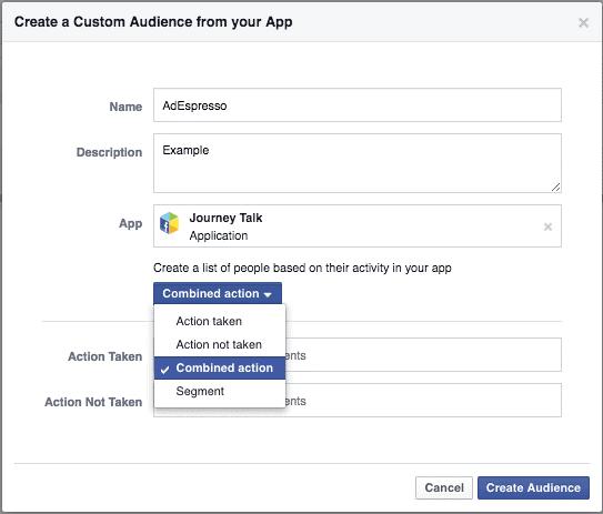 Facebook retargeting to App