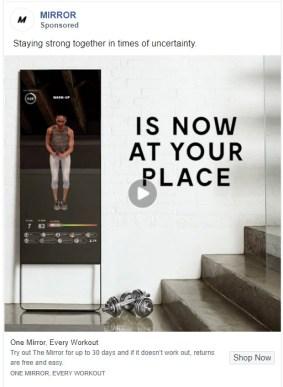 Ad addresses the crisis