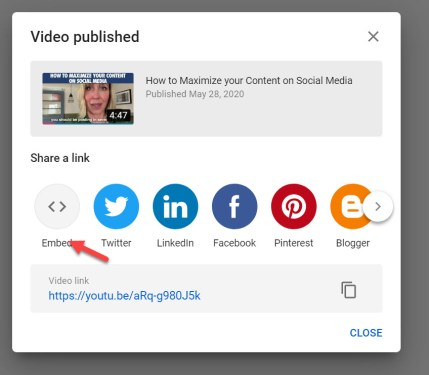 Embed a YouTube Video on your blog