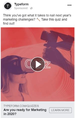 Facebook Ads Quiz Template