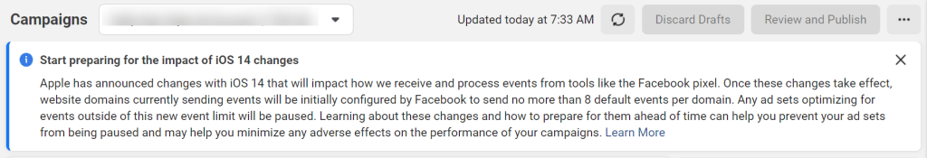 Facebook Apple iOS Changes